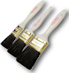 Corona Clay Black China Bristle Paint Brush