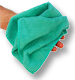 Dry n Polish Green Microfibre Decorators Cloths