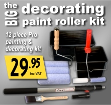 The Big Decorating Paint Roller Kit