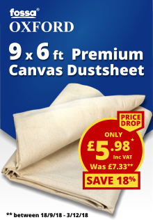 Fossa Oxford Premium Canvas Dust Sheet 6 x 9ft