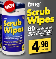 Fossa Scrub Wipes (80 Wipes)