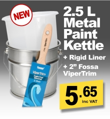 2.5L Metal Paint Kettle with Plastic Liner & 2in ViperTrim
