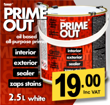 Fossa PrimeOut Oil-based Primer Sealer and Stain Blocker.