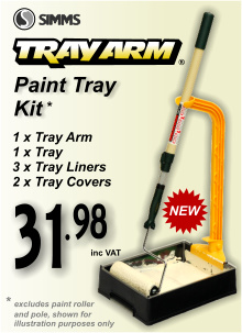 Simms Paint Tray Arm Kit (1xTray 3xLiners 1xArm 2xCovers)