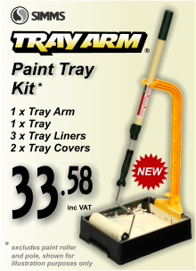 Simms Paint Tray Arm Kit (1xTray 3xLiners 1xArm)