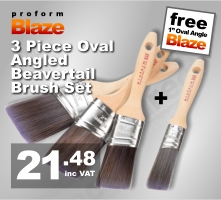 Proform Blaze 3pc Oval Angled Paint Brush Set