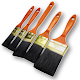 5 Piece Budget Polyester Paint Brush Set