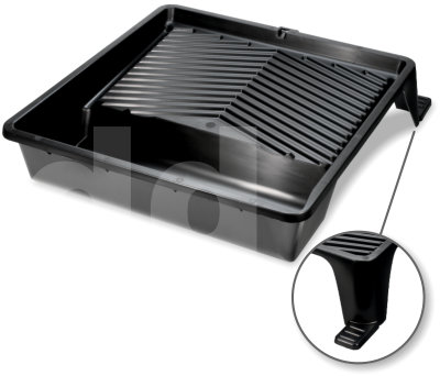 15 inch Black Plastic Paint Tray with Feet