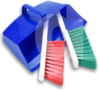 3 piece dustpan and brush set