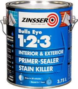 Zinsser Bulls Eye 123 - Primer Sealer and Stain Killer