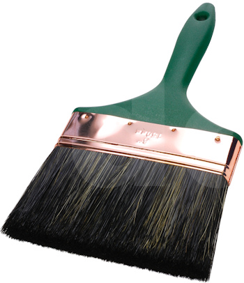 Flat Wall Paint Brush Mixed Bristle (Green Handle)