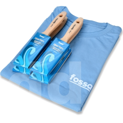 Fossa ViperTrim 4pc Angled Beavertail Paint Brush Set + free T-Shirt