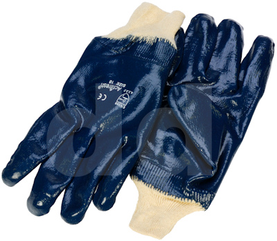 Nitrile Gloves - Fully Coated / Knit Wrist