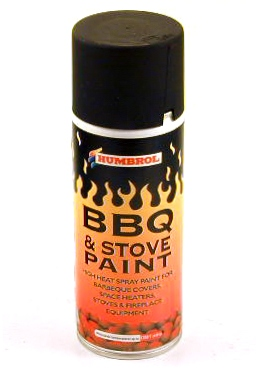 Humbrol Barbeque and Stove Spray Paint Aerosol