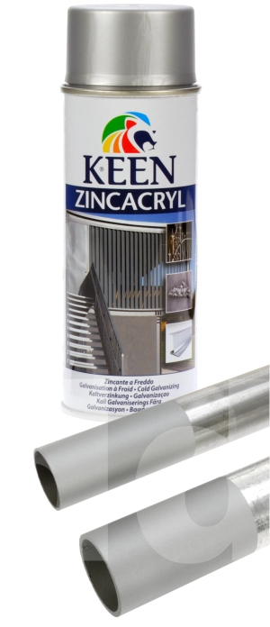 Keen Zinc Satin Rust Inhibiting Aerosol Spray Primer