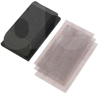 Mirka Abranet Sanding Grip Block Kit 3 Strips (70x125 Block, P120, P180, P240)
