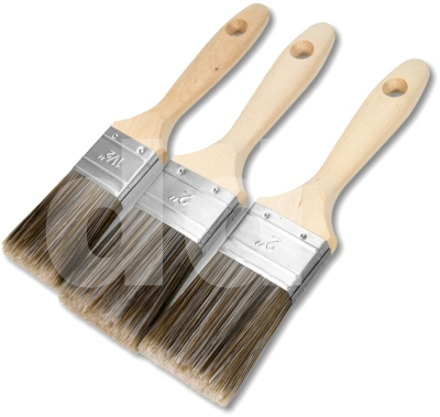 3pc Pioneer Swift Synthetic Paint Brush Set
