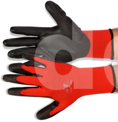 PU Grip Painters Gloves (Red)