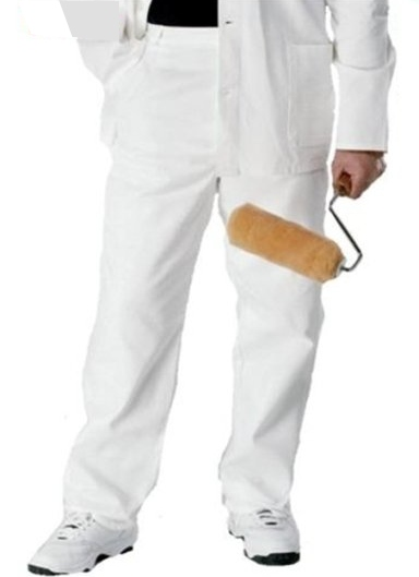 Painters Trousers - White Cotton drill.