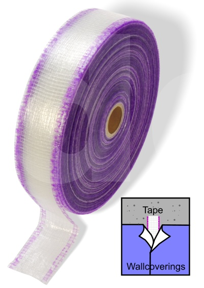 SP Wallcovering Protective Cutting Tape (Purple/White) 150m