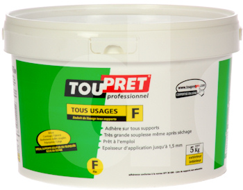 Toupret Tous Usages F - Fine All Substrates Skim Coat