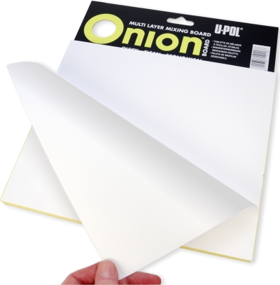 U-POL Onion Board - Filler Mixing Board / Palette / Pad 100 tear-off sheets