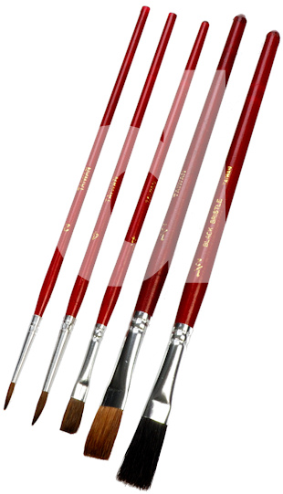 Wooster 5 Piece Hobby and Craft Paint Brush Set