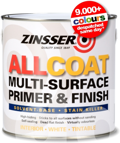 Zinsser Allcoat - Multi-Surface Primer & Finish (Solvent Based)