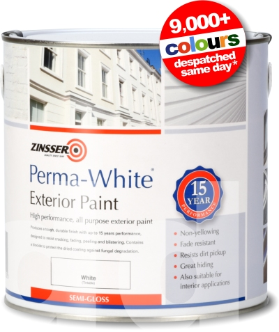 Zinsser perma white exterior mildew proof paint semi gloss - Zinsser exterior paint pict ...